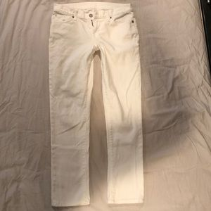 7 For All Mankind Slim Skinny Jeans White 25